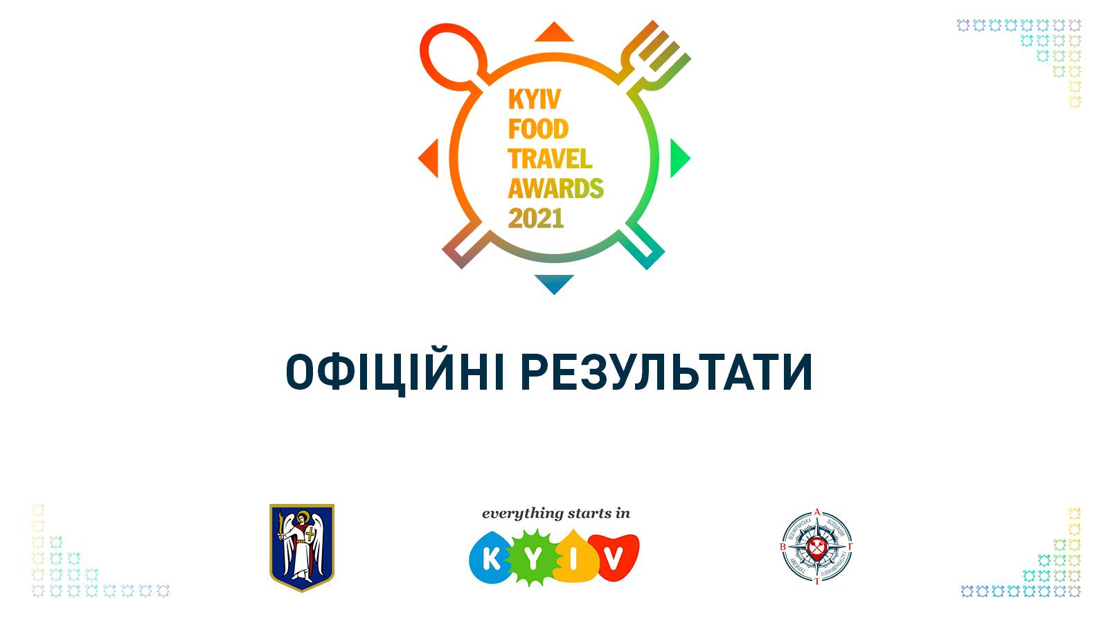 Офіційні результати «Kyiv Food Travel Awards-2021»